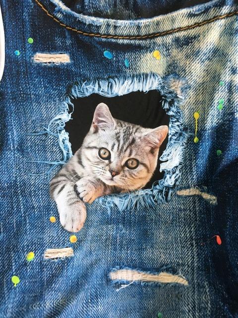 FORUDESIGNS 3D Jeans t-shirt Women tshirt Brand Clothes Harajuku Cat Fashion Tops Tees Blusa Female kawaii T Shirt Girl crop top