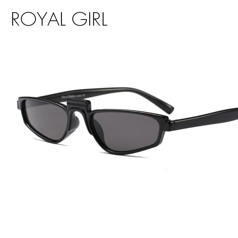 ROYAL GIRL Newest Vintage Women Unique Sunglasses Fashion Brand Design Acetate Frame Male Sun Glasses UV400 ss008