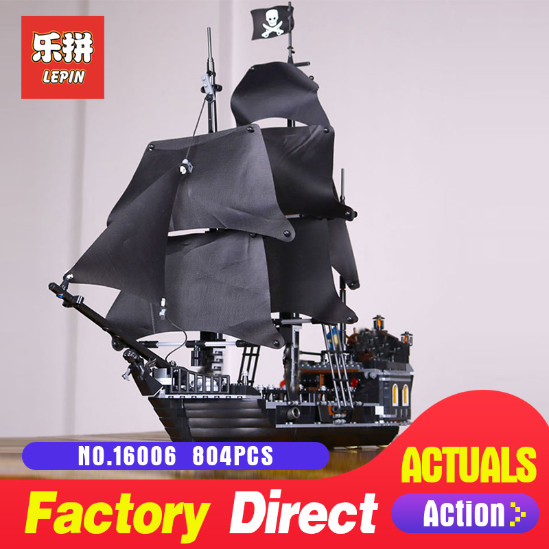 LEPIN 16006 804Pcs Pirates of the Caribbean The Black Pearl Building Blocks Educational Funny Toys LegoINGlys 4184 For Children bevle store lepin 16006 804pcs with original box movie series the black pearl building blocks bricks for children toys 4148