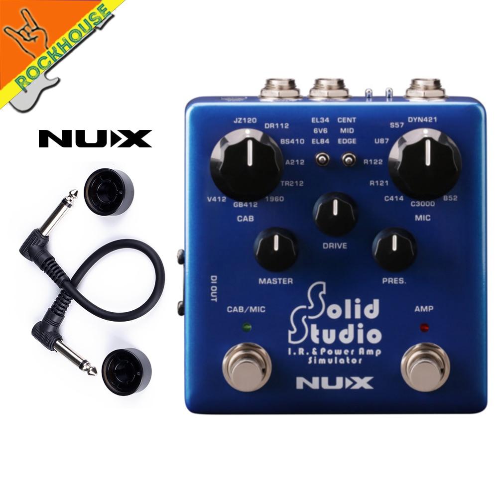 Nux estúdio sólido ir loader efeitos pedal gabinete simulador microfone simulador guitarra pedal ir & power amp simulator