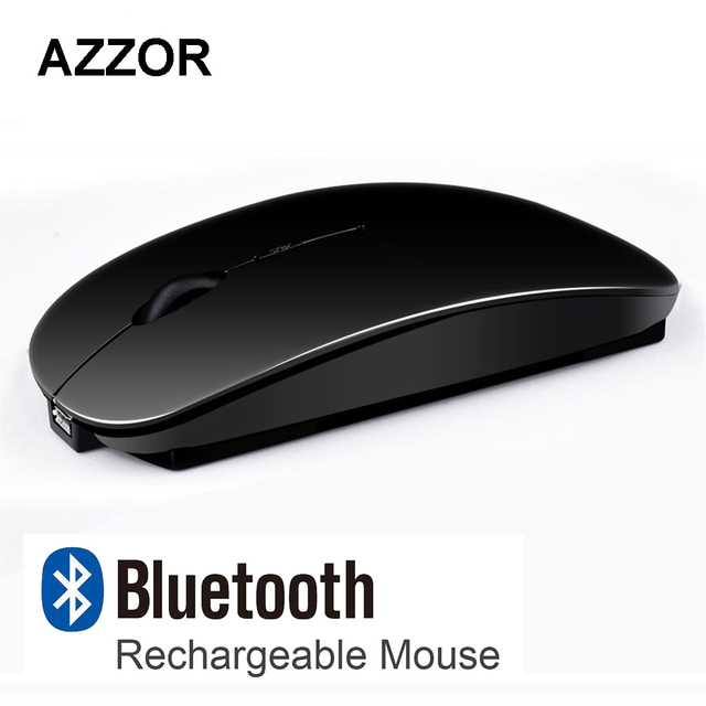 9973182e0d0 AZZOR V8 Rechargeable USB Bluetooth 3.0 Wireless Mouse Mute Silent Click  Mini Noiseless Optical Mouse 2400 DPI for PC Laptop