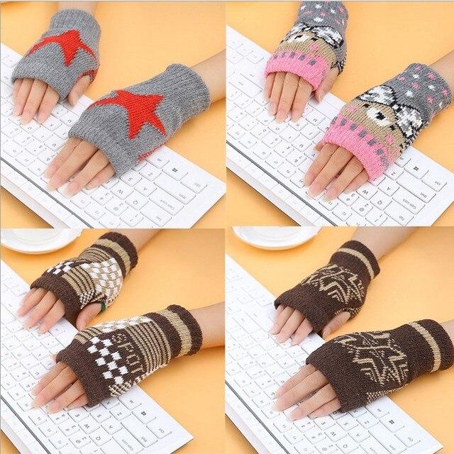Женские Прихватки для мангала стильный руки теплые зимние Прихватки для мангала Женщины рука крючком Вязание из искусственной шерсти варежки теплые митенки Прихватки для мангала