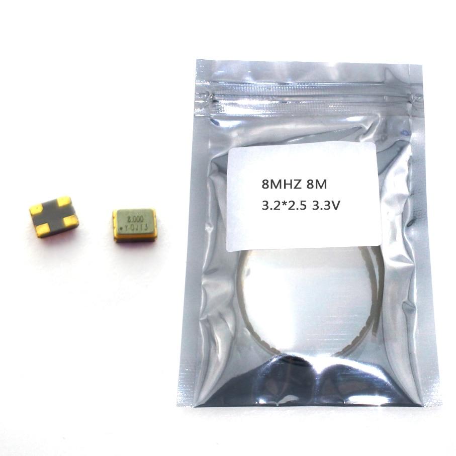 10pcs SMD 3225 Active Crystal Oscillator OSC 8MHZ 8M 3.2*2.5 3.3V 25PPM Chip Crystal Oscillator