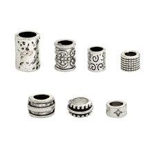 QIHE JEWELRY 7pcs set Viking beads Beads for Hair Braid Beard Mustache Dreadlock Viking jewelry Norse jewelry Unisex Accessories cheap Fashion Alloy WPJ060 Metal Round Shape 16g set