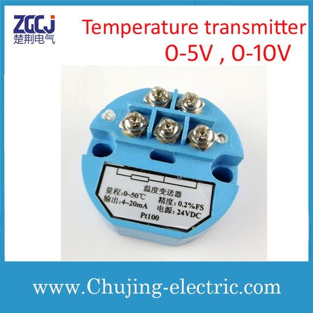 0 5V , 0 10V DC PT100 Temperature transmitter 0 5V , 0 10V transmit ...