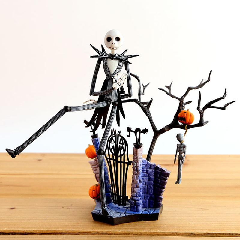 ФОТО Spot SCI-FI Revoltech Series NO.005 Jack Skellington PVC To Face Action Figure Collectible Model Toy 20cm Holiday gifts