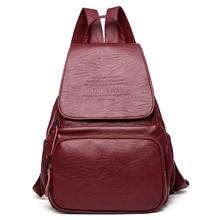 Mode Frauen Rucksack Leder Casual frauen Rucksäcke Schultertasche Schultaschen Für Jugendliche Mädchen Mochila Rucksack Reisetasche