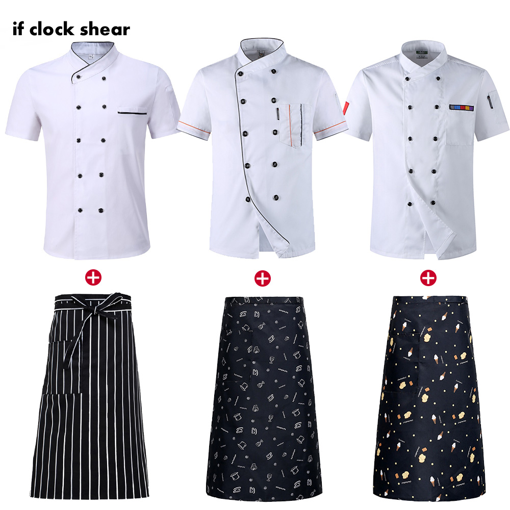 US $3.3 3% OFFIF New Design Wholesale Unisex Kitchen Chef Restaurant  Uniform Shirt Breathable Double Breasted Dress Chef Jacket chef workschef