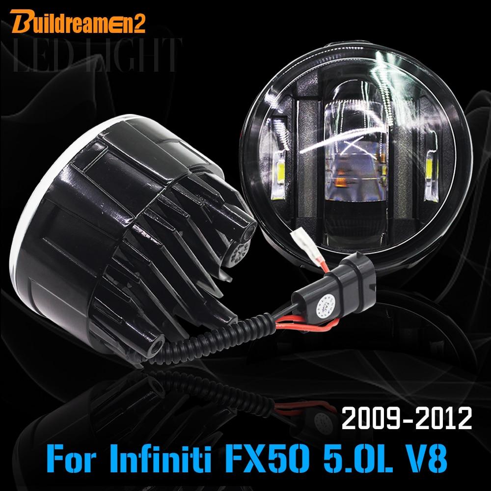 Buildreamen2 для Инфинити FX50 5.0 Л V8 2009-2012 стайлинга автомобилей из светодиодов Противотуманные фары DRL дневные ходовые огни супер яркий 2 шт.