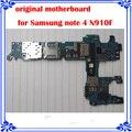 Nota 4 n910f original motherboard europea versão da placa de sistema mainboard para samsung note 4 android boa placa lógica de trabalho