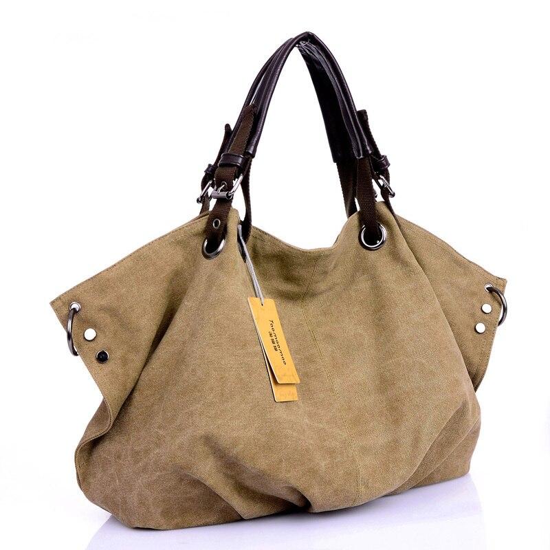 Women Canvas Messenger Bags Handbags Female Tote Bolsas Femininas Ladies Shoulder Crossbody Bags Women's Top-Handle Bags