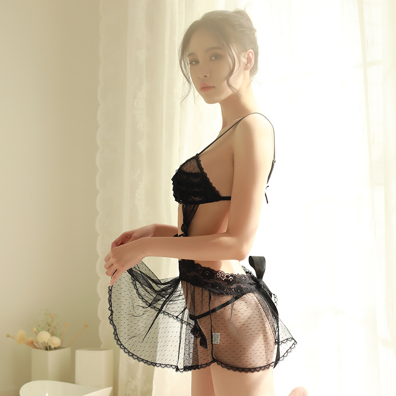 Suits for sex Erotic lingerie  Black lace Transparent mesh Erotic underwear Romantic temptation Erotic sexy costumes porn sex