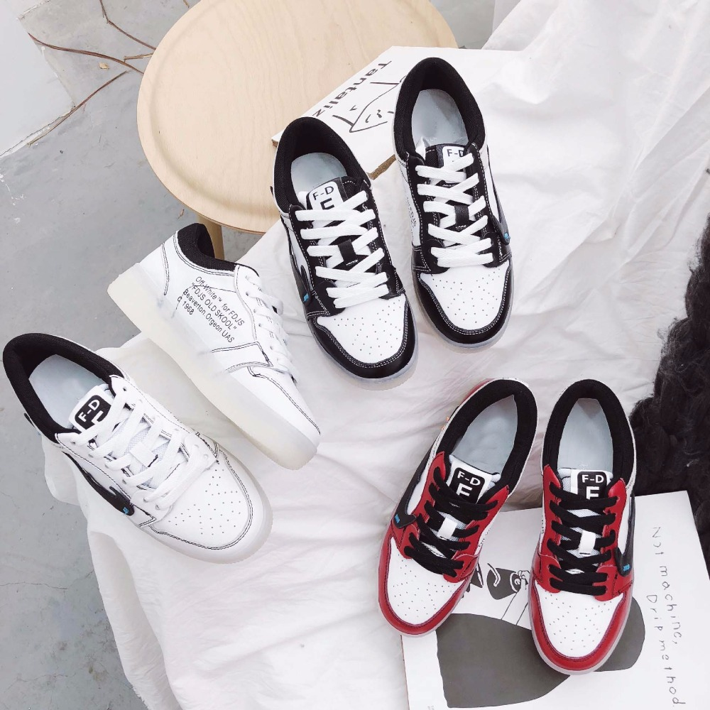 Jookrrix 2018 Spring Girl Fashion Brand Lady Leisure White Shoes Women Warm Sneaker Cross-tied Genuine Leather Cross-tied Soft