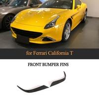 Передние плавники на бампер для Ferrari califoria 2015 2018 T Стиль углеродного волокна тела наборы бампер крышка аксессуары 2 шт./компл.
