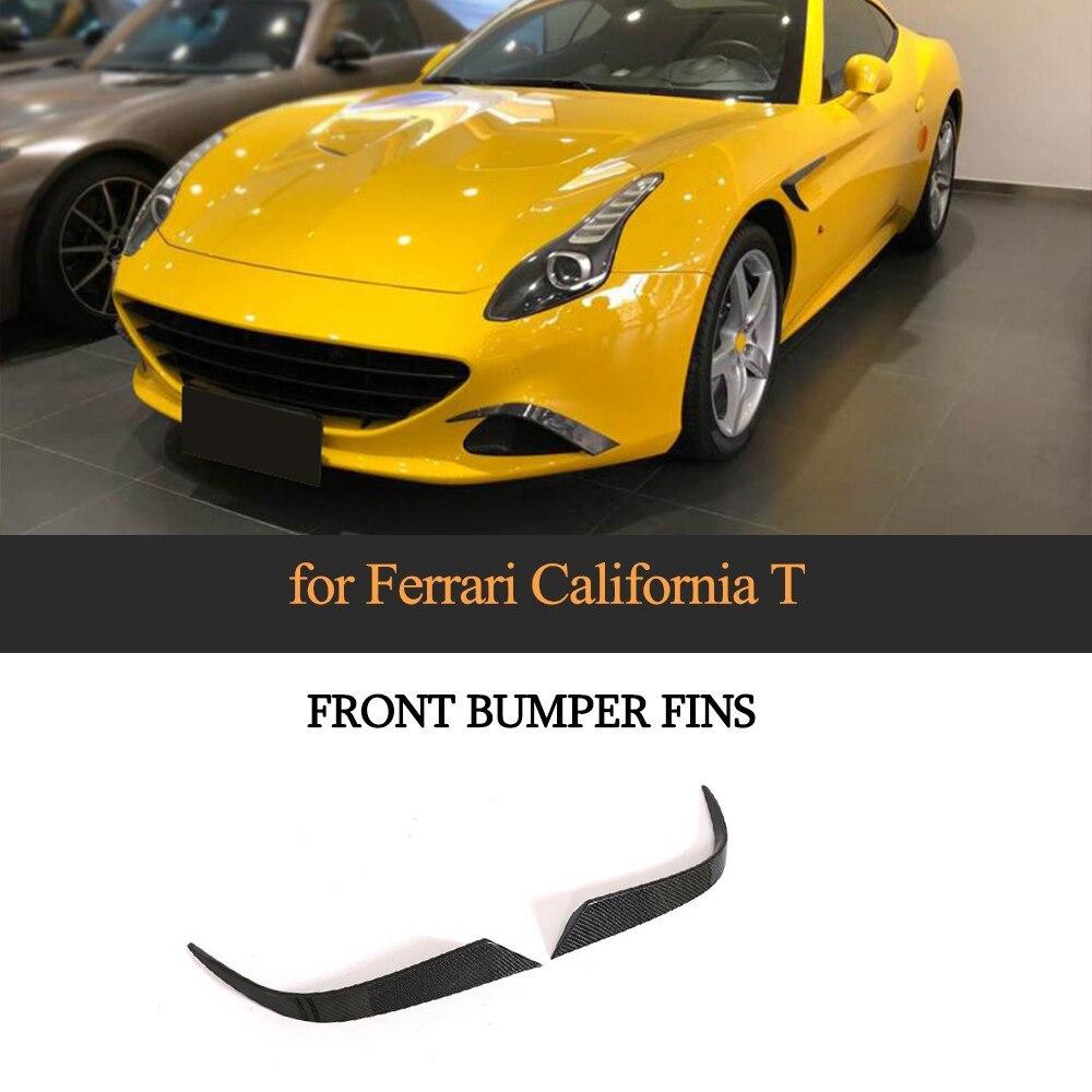 Ailerons de pare-chocs avant pour Ferrari California 2015-2018 T Style kits de carrosserie en Fiber de carbone accessoires de couverture de pare-chocs 2 pièces/ensemble