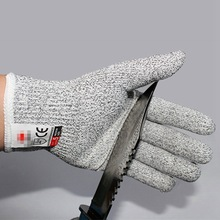 1 pair CE Anti-cut Gloves Cut Resistant Gloves Food Grade Level 5 Protection Safety Kitchen Hunting Wood Carving Working Gloves цена в Москве и Питере