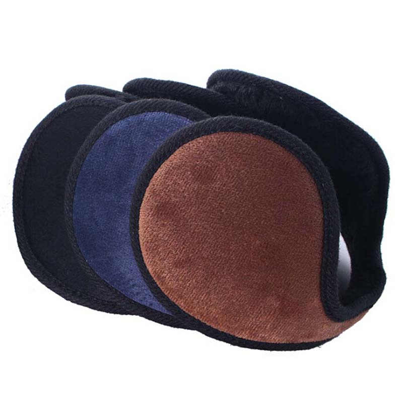 Mens Winter Casual Warm Ear Muffs Earflaps Women Girls Flannel Plush Earmuffs Ear Warmer Cover Wrap Band Orejeras Mujer