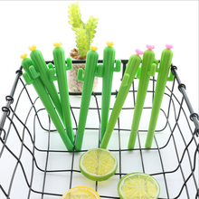 2pcs/lot Creative Yellow flower cactus gel pen Kawaii students Writing Neutral pens Caneta Office School Stationery Supplies цена