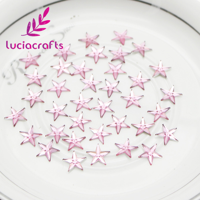 Lucia crafts 200pcs lot 12mm Star Shaped Rhinestone Flat back Cabochon  Supply Decoration DIY Handmade Accessories 21011230-in Rhinestones from  Home   Garden ... ec33d53a6d7a