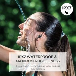 Image 2 - Mpow auriculares S11 ipx7 impermeables con Bluetooth 5,0, dispositivos deportivos APTX con diseño magnético y 9H de reproducción para iPhone, Samsung, Huawei y Xiaomi