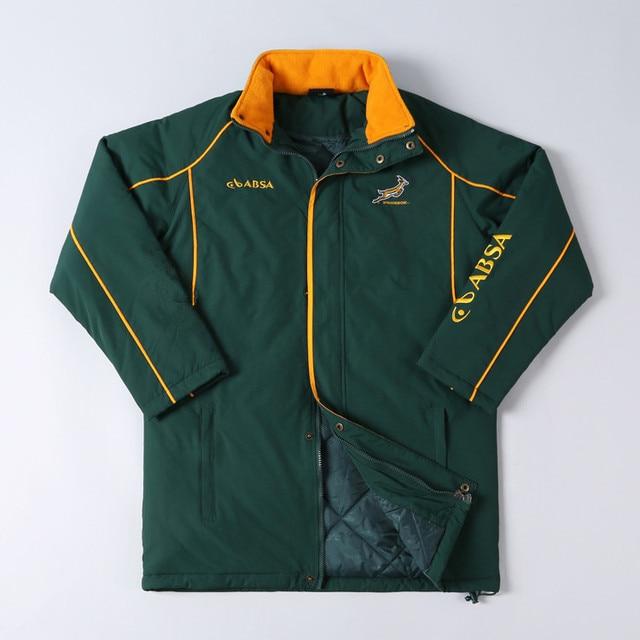 térmica Sudáfrica chaqueta capa de doble hombre engrosamiento Rugby rHBIrq