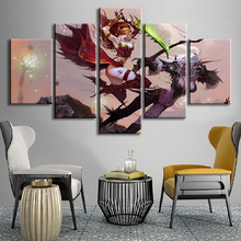 цена на Modular Pictures Home Decoration 5 Pieces DotA2 Game Poster Wall Artwork Modern Canvas Hd Print Painting For Living Room Frame