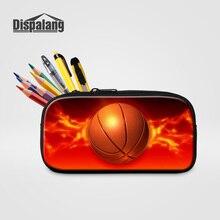 Dispalang Cosmetic Cases Makeup Bags 3D Basketballs Pencil C