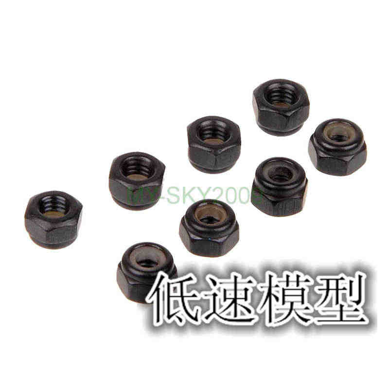 8 piezas HSP 02055 tuerca de Nylon M4 8 P para 1/10 RC modelo de coche volador 94122, 94123, 94106, 94166 94155, 94177, 94111, 94188, 94108