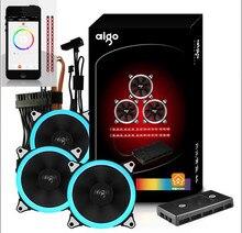 Aigo 120mm Und Led-streifen Mit Wifi Controller Handy APP Fan Controller Einstellbare LED Ring Fall Lüfter 12 cm aigo RGB