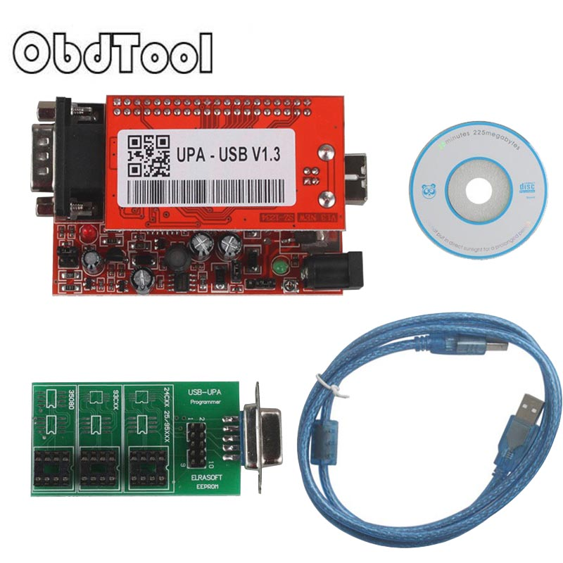 OBDTOOL Wholesale for New UPA USB V1.3 ECU Programmer for 2014 Version Main Unit UPA-USB for Sale free Shipping new upa usb 2014 v1 3 0 14 with full adapters upa usb device programmer v1 3 auto ecu tool in stock