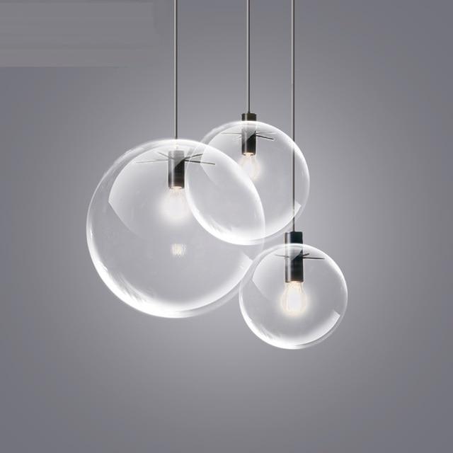 ristorante bar camera da letto per bambini palla di vetro lampade ... - Lampadario Sospensione Camera Da Letto
