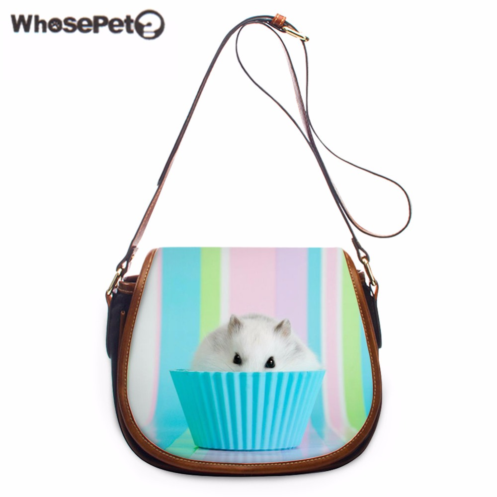 WHOSEPET Dolphin Cross Body Bags Animals Messenger Bags Pu Shoulder Bags Fashion Girls Women's Sling Bag Ladies Cross Body Purse