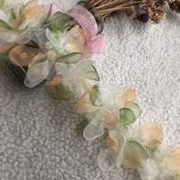 Embroidered lace leaves lace tri color lace barcode color flower clothing accessories