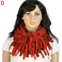 AOLOSHOW зимний шарф для женщин, шарф-труба с круглыми петлями, зимний теплый шарф, несколько вариантов использования, волшебный шарф-кольцо, шали с кисточками, NL-1931