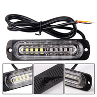2 Pcs Car LED Side Marker Lights Ultra Thin Strobe Lights Truck Side Warning Lamp 12V 24V Vehicles Light