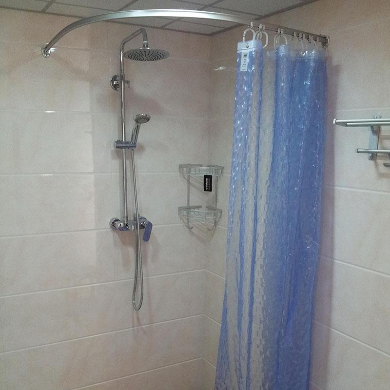 the new curved shower curtain rod shower curtain track custom shape l shaped u shaped shower curtain rod shaped profiled oth