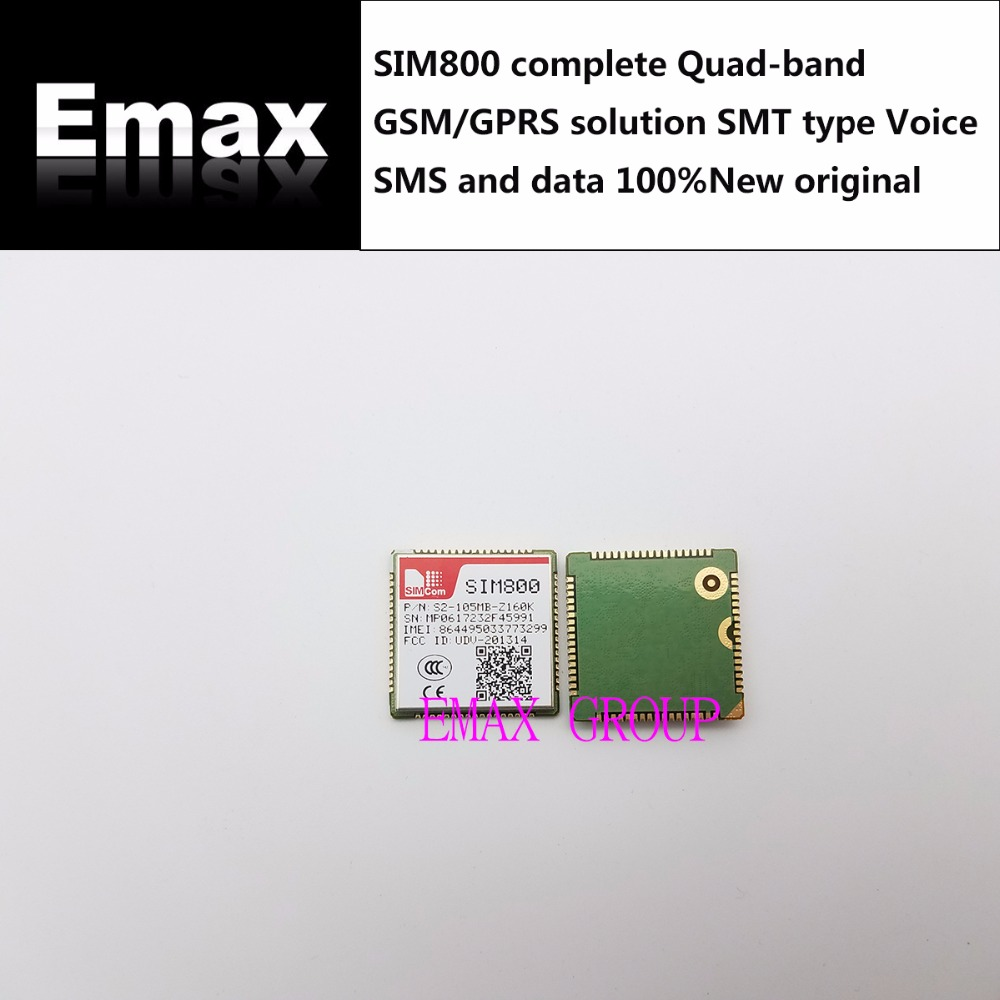 Free Ship 10PCS LOT SIM800 complete Quad band GSM GPRS solution SMT type Voice SMS and