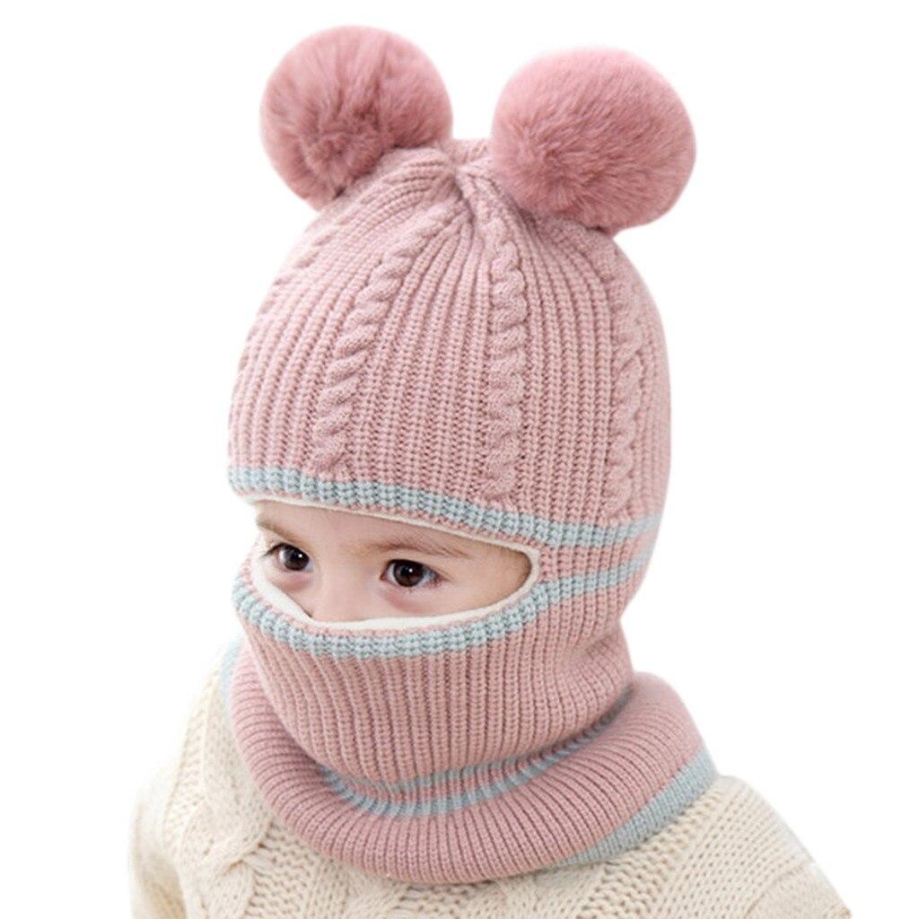 2019 Newborn Kids baby muts winter Hat Boy Girl Pom Hat