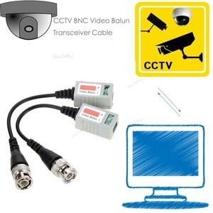 Image 4 - 12 Pcs מצלמה CCTV BNC CAT5 וידאו Balun פסיבי משדר כבל מתאם מחבר