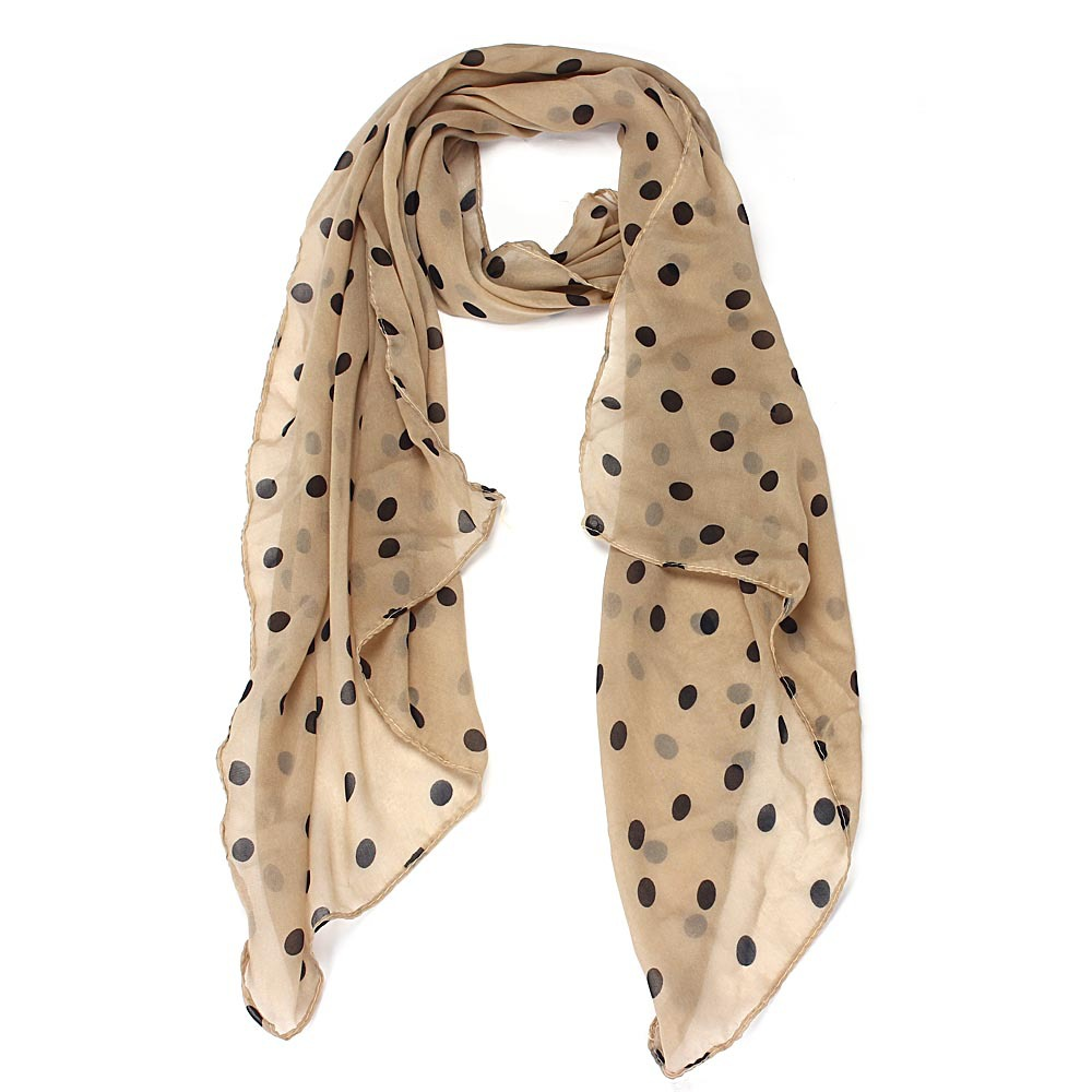 2019  Women Long Wrap Shawls And Scarves Polka Dot Chiffon Scarf Stole Top Quality Fashion Scarves
