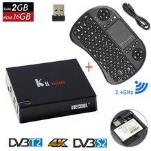 Оригинальный Кии Pro Smart Android 5.1 ТВ коробка DVB-T2 DVB-S2 Amlogic s905 4 К media player 2 г + 16 г WI-FI K2 Pro Декодер каналов кабельного телевидения + I8 Клавиатура