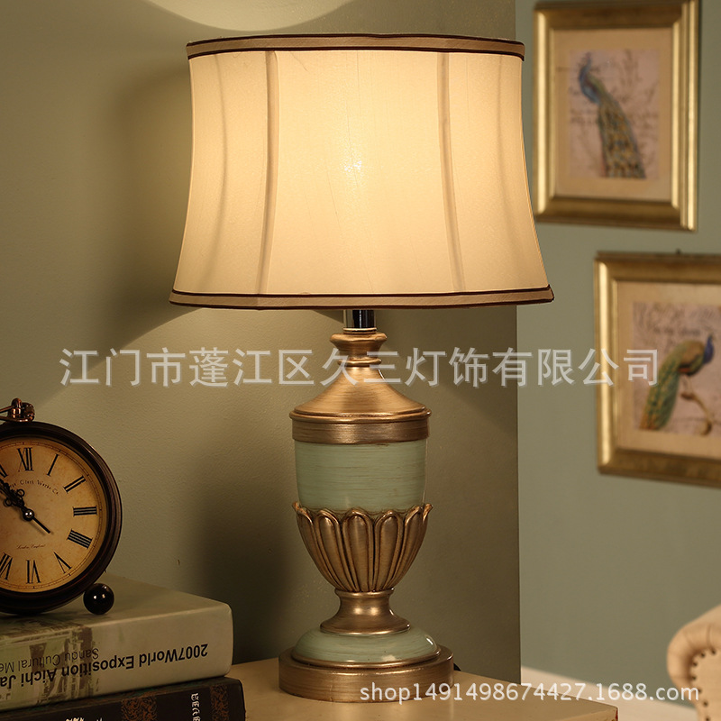 TUDA 31X51cm Free Shipping American Style Table Lamp Minimalist Design Resin Table Lamp Modern Dimming Table Lamp Living Room tuda 27x46cm free shipping modern minimalist style metal table lamp creative acrylic led table lamp for bedroom living room