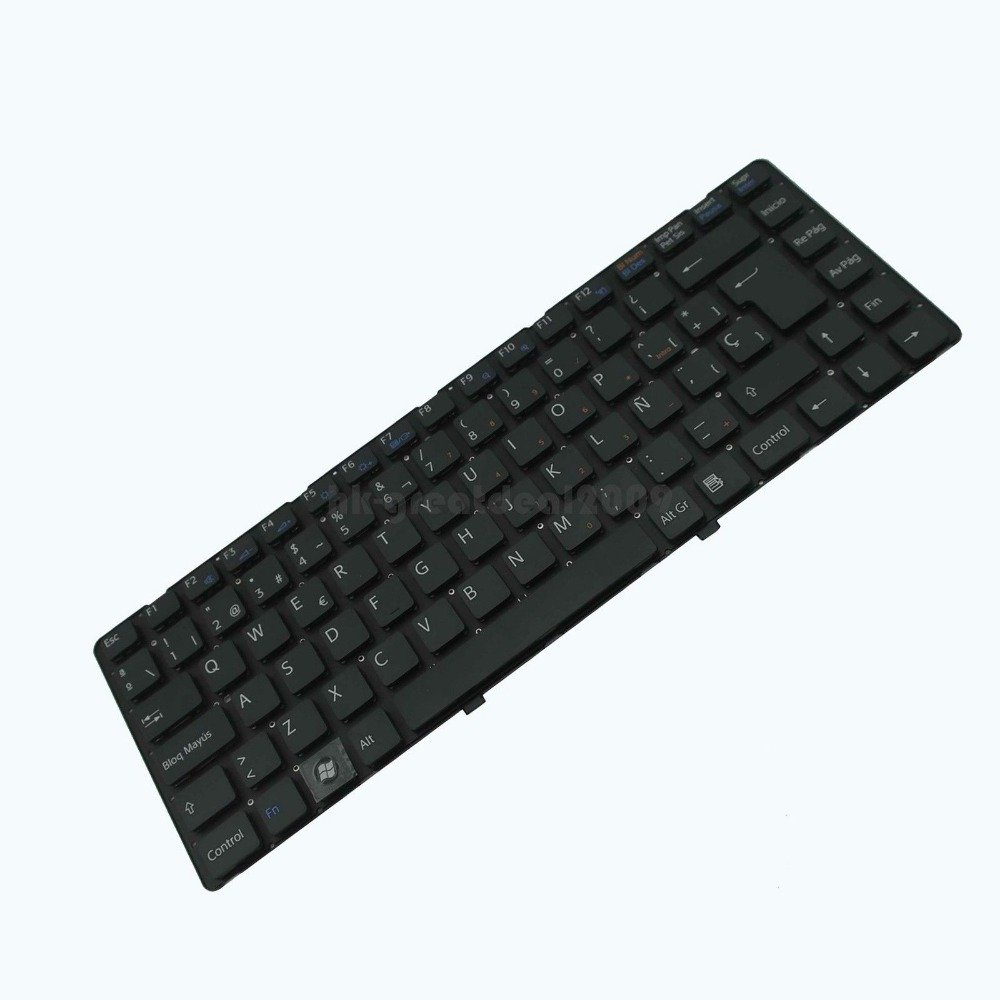 New notebook Laptop keyboard for   Sony Vaio VGN-NW20EF/W VGN-NW20SF/S Series   SP  layout for sony vpceh35yc b vpceh35yc p vpceh35yc w laptop keyboard