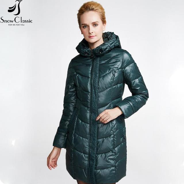 Botas de nieve Clásico Chaqueta de Invierno Femenina 2016 de Invierno Muy Cálido Abrigos Con Capucha de la Chaqueta Para Mujer Parka Acolchada Capa 14392