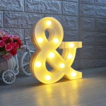 Battery Powered DIY Letter & LED Night Light Marquee Sign Alphabet 3D Wall Hanging Night Light Home Wedding Birthday Party Decor letter led night light romantic indoor decorative wall lamps creative 3d boy girl marquee home birthday wedding decor gifts p20