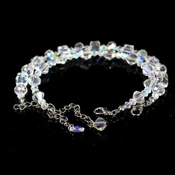 Geometric Square Crystal Charm Bracelets For Women Adjustable Strand Beads Engagement Party Jewelry 4