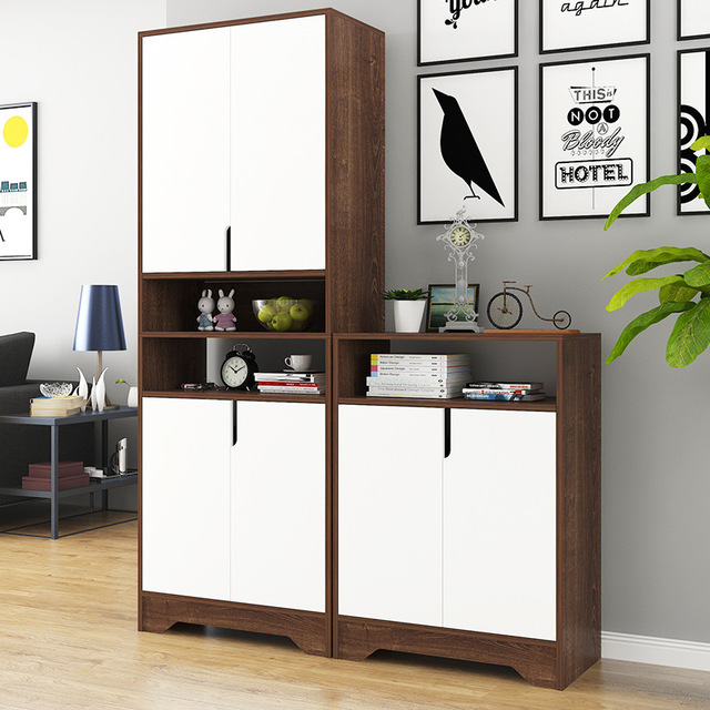 Lk606 Large Capacity Storage Cabinet With Drawer Multilayer Shoes Wooden Rack Movable Adjule