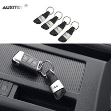 AUXITO Car Keychain Accessories For Audi A3 A4 B6 B8 A6 C6 80 B5 B7 A5 Q5 Q7 TT 8P 100 8L C7 8V A1 S3 Q3 A8 B9 S line A7(China)