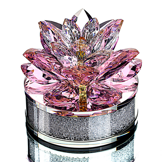 Hd top quality xmas gifts k9 crystal lotus flower paperweight for hd top quality xmas gifts k9 crystal lotus flower paperweight for home decoration wedding favors mightylinksfo