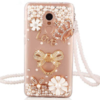 Xiaomi Redmi 5 Plus Case Redmi 5 Case Luxury Rhinestone Stand Holder Back Cover For Xiaomi
